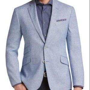 JOE Joseph Abboud 52R Blue Tic Slim Fit Sport Coat